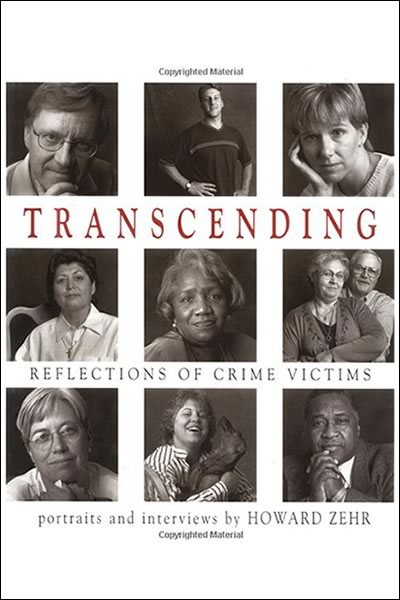 Cover of the book, Transcending.  Reflections of crime victims.